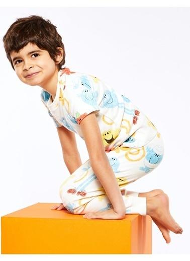 Marks & Spencer Mr Men™ Pijama Seti Beyaz